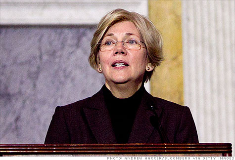 Elizabeth Warren, special advisor on the U.S. Consumer Financial Protection Bureau (CFPB), speaks about the CARD Act in Washington.