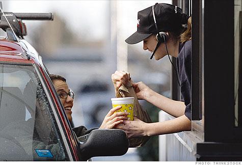 Wealthy Americans increase fast food spending
