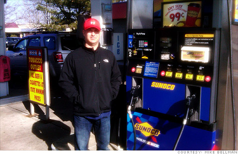 As Americans wince at sharply higher gas prices, gas station owners like Mike Bellman say consumers shouldn't take it out on them.