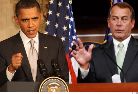 President Obama and House Speaker John Boehner have different plans for IRS funding.