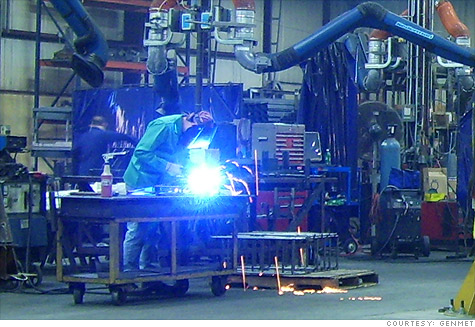 A welder at GenMet plant north of Milwaukee. The company is struggling to find the skilled workers it needs to expand.
