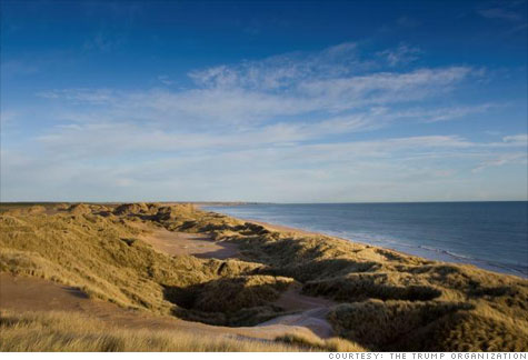 Coast of Scotland where Donald Trump is building his newest golf course.
