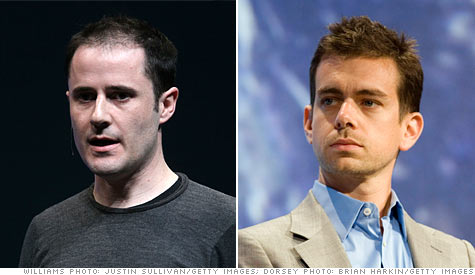 Twitter co-founder Evan Williams is reducing his involvement with the company, while Jack Dorsey steps his up.