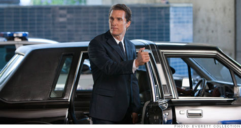 Matthew McConaughey plays Mickey Haller in the <i>Lincoln Lawyer</i>, based on Michael Connelly's novel.