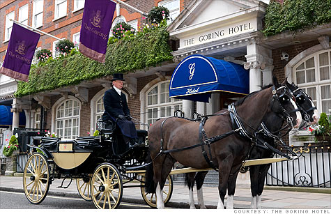 The 101-year-old, family-run Goring Hotel is fit for a princess-to-be.