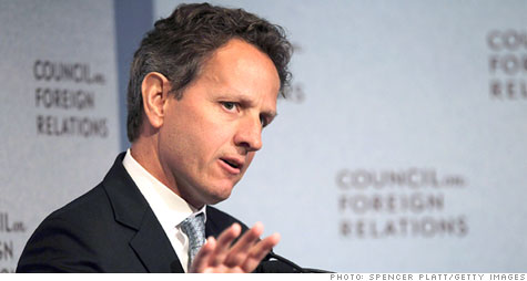 Treasury Secretary Timothy Geithner has urged lawmakers to raise the country's debt ceiling by early summer, preferably sooner.