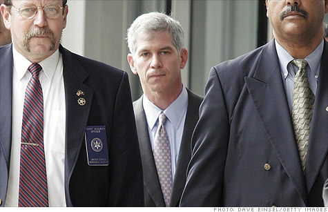 U.S. Marshals escorted Andrew Fastow, center, from a federal courthouse in Houston on March 13, 2006, his final day of testimony against fellow Enron executives Ken Lay and Jeffrey Skilling.