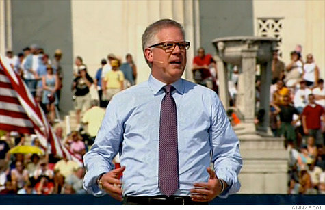 Conservative firebrand Glenn Beck, at his 'Restoring Honor' rally at the Lincoln Memorial on Aug. 28, 2010.