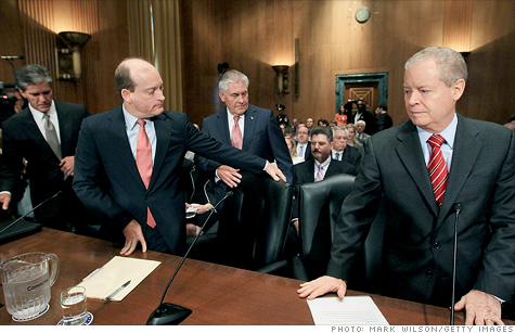 Big oil execs on Capitol Hill to defend their tax breaks.