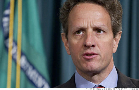 Tim Geithner calls out banks for trying to 'starve' reform.