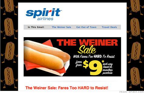 Spirit Air's Weiner Sale