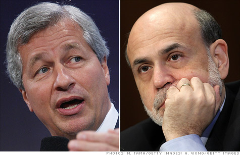 JPMorgan Chase CEO Jamie Dimon whines to Federal Reserve Chairman Ben Bernanke