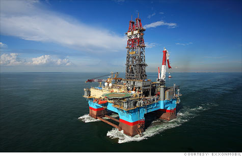 ExxonMobil has struck oil in the Gulf of Mexico, enough to power the U.S. for 28 days.