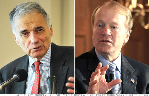 Consumer advocate (and Cisco shareholder) Ralph Nader is not pleased with Cisco's stock performance and has urged Cisco CEO John Chambers to boost its dividend.