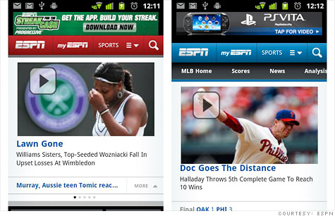 ESPN's new mobile app looks native but runs entirely on the Web.