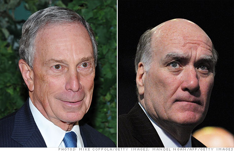 New York Mayor Michael Bloomberg (left) and White House Chief of Staff Bill Daley,