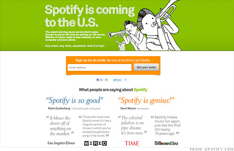Spotify to launch in the U.S.