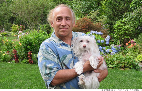 Pearl's Premium founder Jackson Madnick with his pet.