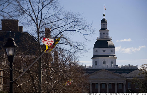 Maryland and four other states might lose their top credit ratings if the United States doesn't resolve the debt ceiling impasse.