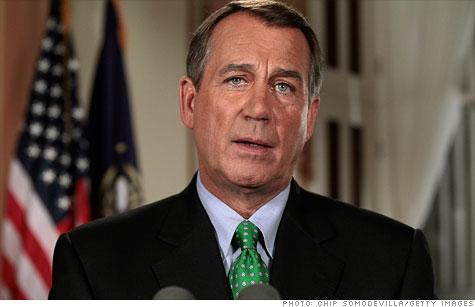 Boehner debt ceiling bill to cut deficits by $850 billion
