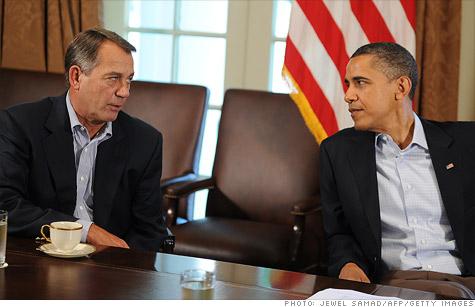 President Obama and Speaker Boehner tried to strike a