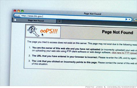 BLS website crashes, payroll jobs report unavailable