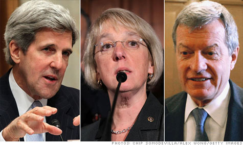 Senators John Kerry, Patty Murray and Max Baucus will join a Congressional debt-cutting committee formed as part of the debt-ceiling deal.