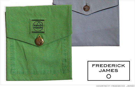 Crime pays: Frederick James' iPad covers made from Madoff's old clothes are selling like crazy.