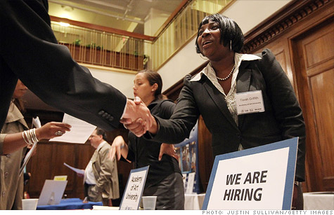 About 414,000 Americans filed for their first week of unemployment benefits last week, showing hiring remains weak.