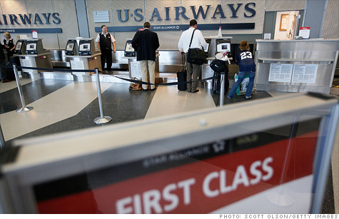 US Airways hiked up its fares for walk-up purchases. Competing airlines matched the increase.
