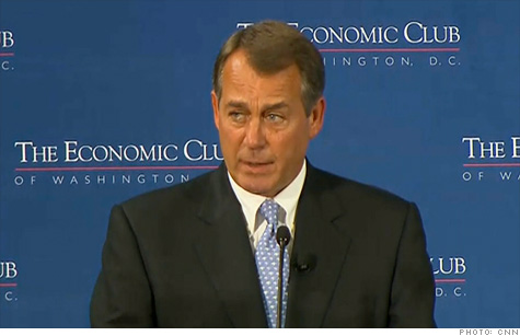 House Speaker John Boehner said tax hikes
