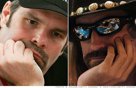 Poker celebs Howard Lederer, left, and Christopher Ferguson have been charged with profiting from a $440 million online poker Ponzi scheme.