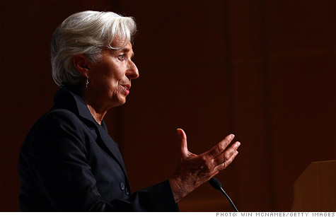 IMF director Christine Lagarde speaks at the Woodrow Wilson Center in her first public address since her appointment Sept. 15, 2011.