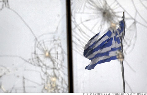 Greece has been rocked by protests as the government struggles to come up with ways to cut deficits and secure more emergency funding.