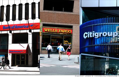 Bank of America, Wells Fargo, Citigroup
