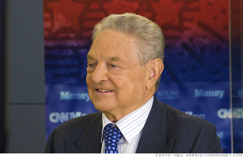 Europe's debt crisis could trigger a global financial meltdown, said George Soros.