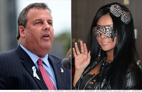 New Jersey Gov. Chris Christie cut tax credits for MTV's hit show Jersey Shore.