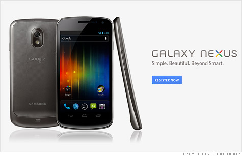 Google unveils new Nexus phone with redesigned Android 4.0 - Oct. 19, 2011