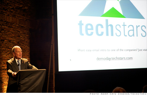 NYC Mayor Michael Bloomberg dropped by TechStars this week to talk up the city's rapidly growing startup scene.