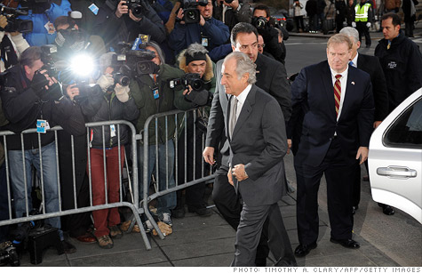 Ponzi convict Bernard Madoff (center) told Barbara Walters that he feels remorse for his family, but downplayed the severity of his crimes regarding investors.