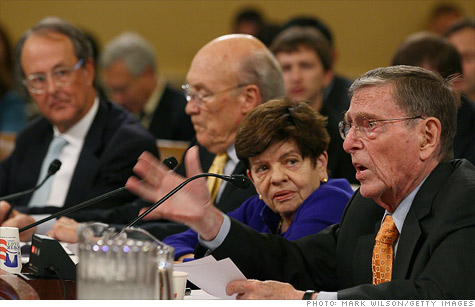 Budget experts (left to right) Erskine Bowles, Alan Simpson, Alice Rivlin and Pete Domenici urged the debt committee to lead.