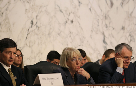 A lot of work but not a lot of time left: Debt committee leaders Jeb Hensarling and Patty Murray and member Jon Kyl.
