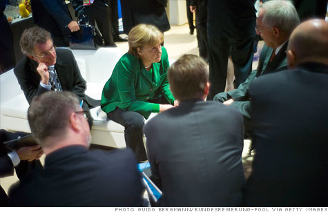 German Chancellor Angela Merkel and other G20 leaders have put Europe's crisis front and center.