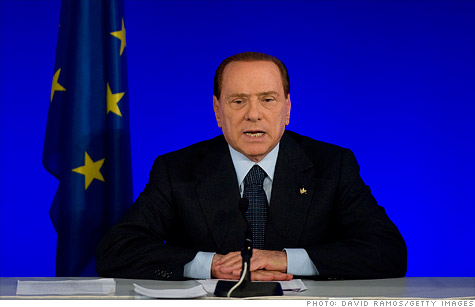 Italian Prime Minister Silvio Berlusconi is being blamed for soaring bond yields and his grip on power could be waning.