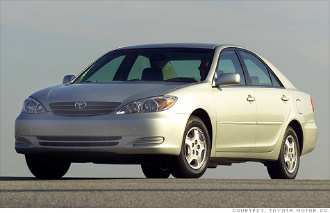 The 2005 Toyota Camry is among the cars Toyota is recalling for a power steering issue.