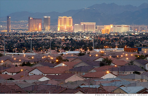 Las Vegas has suffered through the housing market bust like a few other places, but still has further to fall.