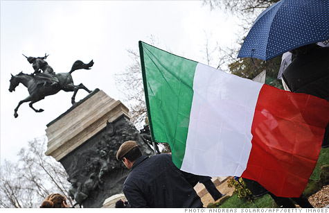 Yields on Italian bonds remain perilously close to the 7% mark despite some ECB buying and decent aution results.