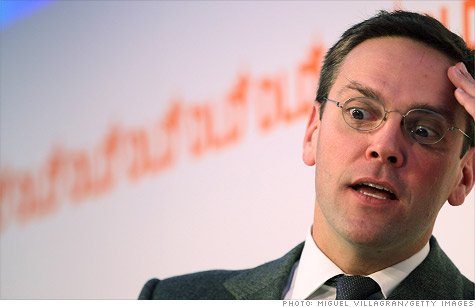 James Murdoch has stepped down from the boards of the companies that publish The Times of London and The Sun newspapers, News Corp subsidiary News International said Wednesday.