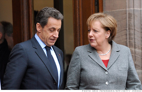 French President Nicolas Sarkozy and German Chancellor Angela Merkel are reportedly working on a new agreement to give the European Union more power to regulate budget policies in individual euro area nations.