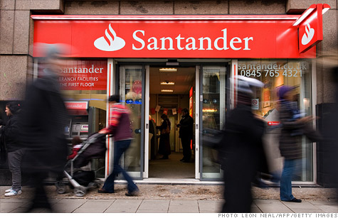 Spain's Banco Santander is among 31 banks facing big capital shortfalls, say European banking regulators.